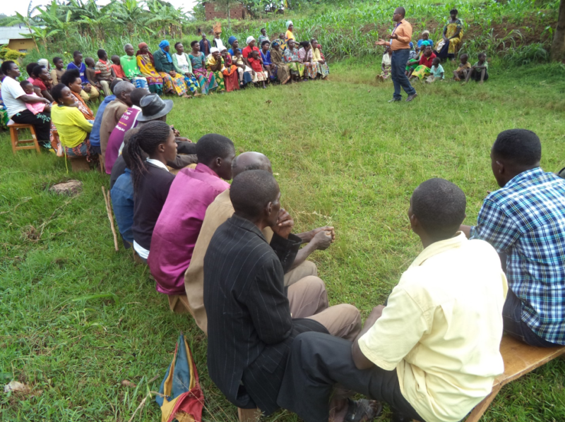 RHIH students and staff visited one vulnerable village in Ruli Cell named Nyakarambi